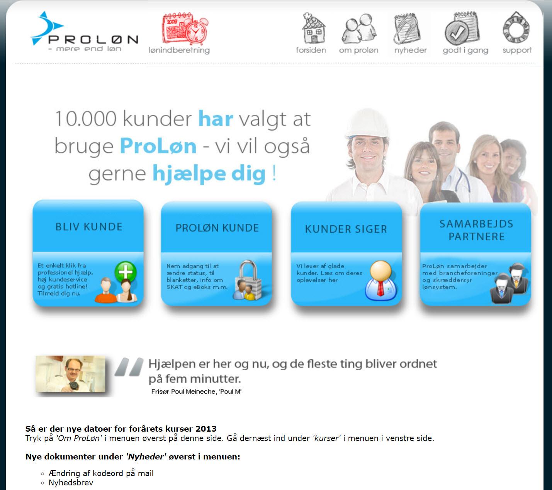 Gammel-proløn-webside